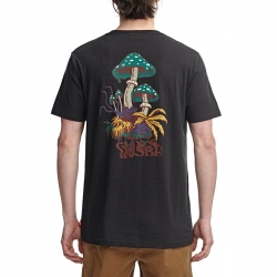 globe NATURE WALK TEE washed blk